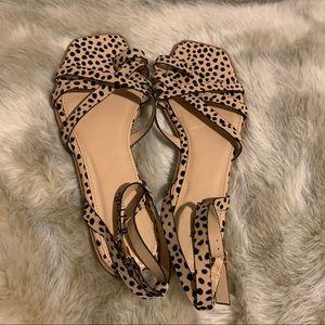 NWOT JustFab cheetah strappy sandals